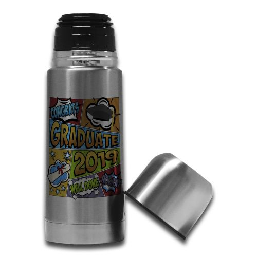 350ml Congrats Graduate 2019 Comic Stainless Steel Thermos Flask Bottle